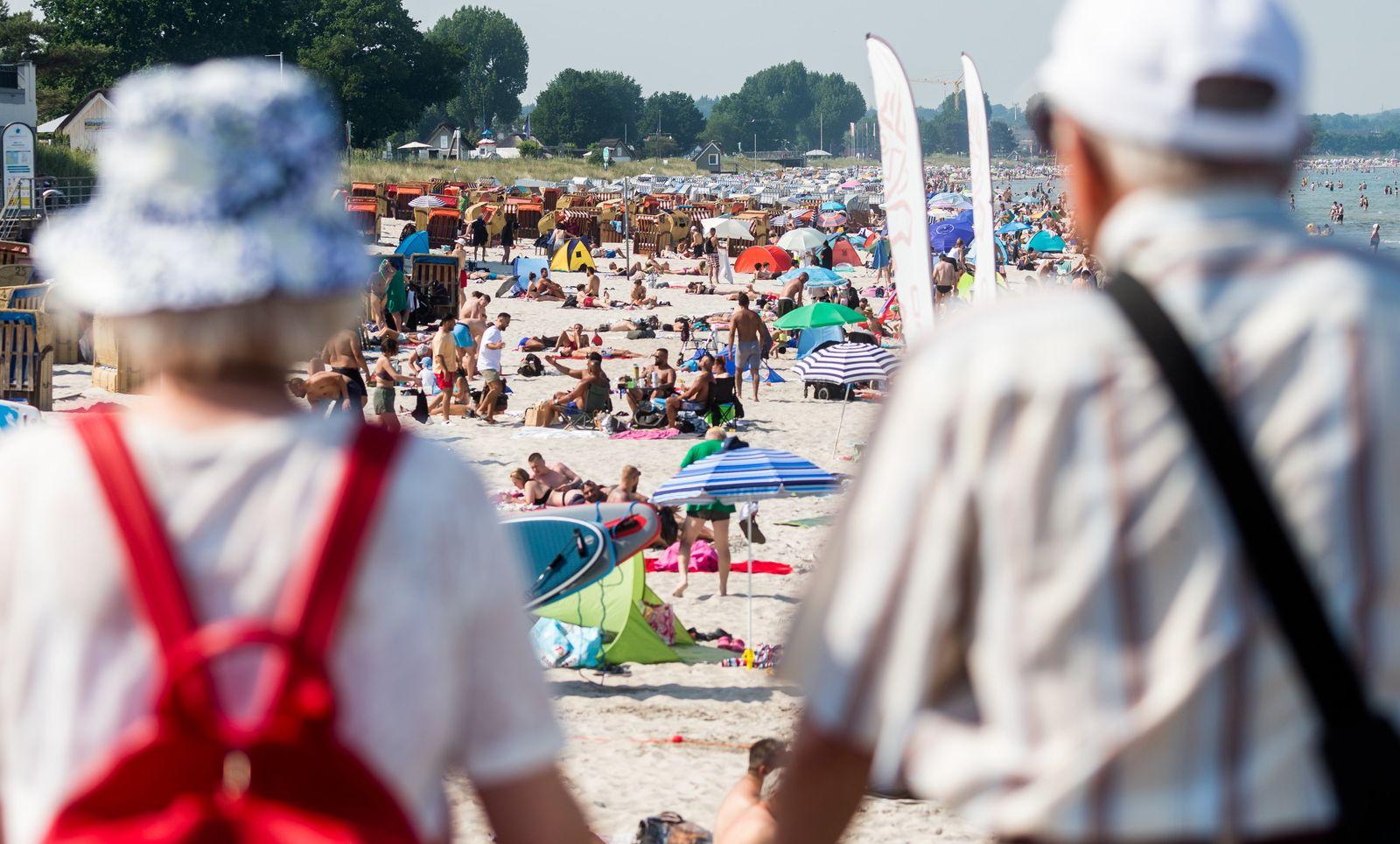 Hitze in Schleswig-Holstein - Scharbeutz