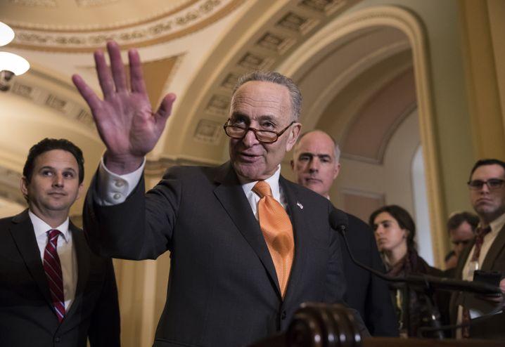Chuck Schumer, Führer der Demokraten im Senat