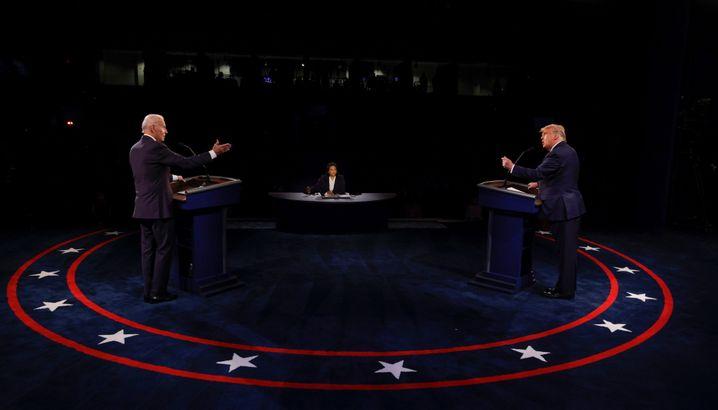 Rivalen Biden, Trump beim letzten TV-Duell