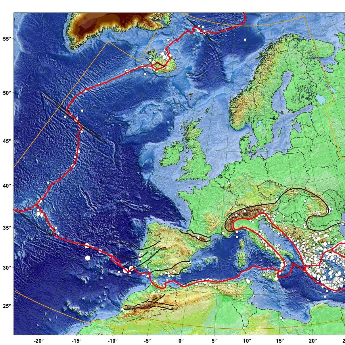 Erdbeben Karte Zeigt Erdbeben Risiko Fur Europa Und Deutschland