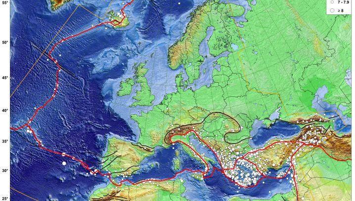 Erdbeben in Europa: Wo der Boden gewackelt hat