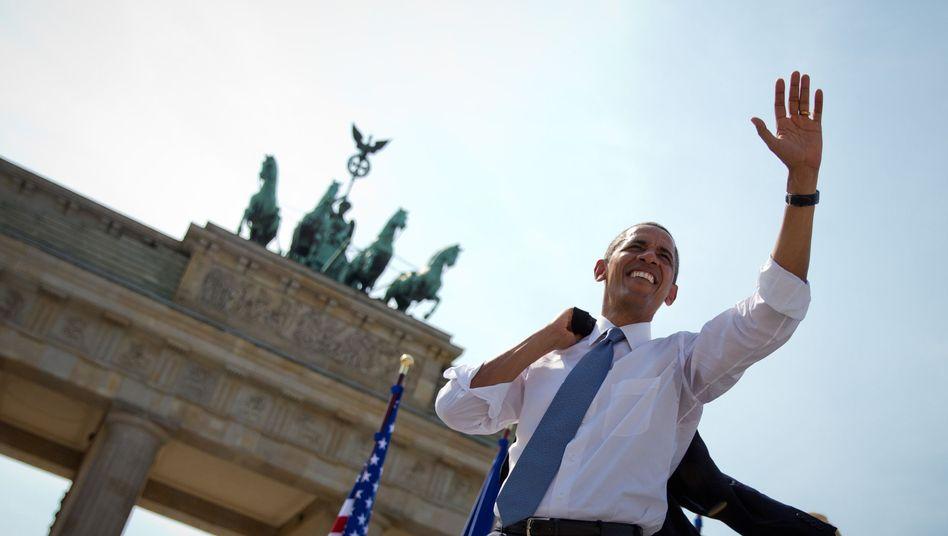 """US-Präsident Obama vor dem Brandenburger Tor: """"Charmeoffensive"""" in Berlin"""