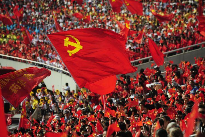 Fahnen der Kommunistischen Partei Chinas