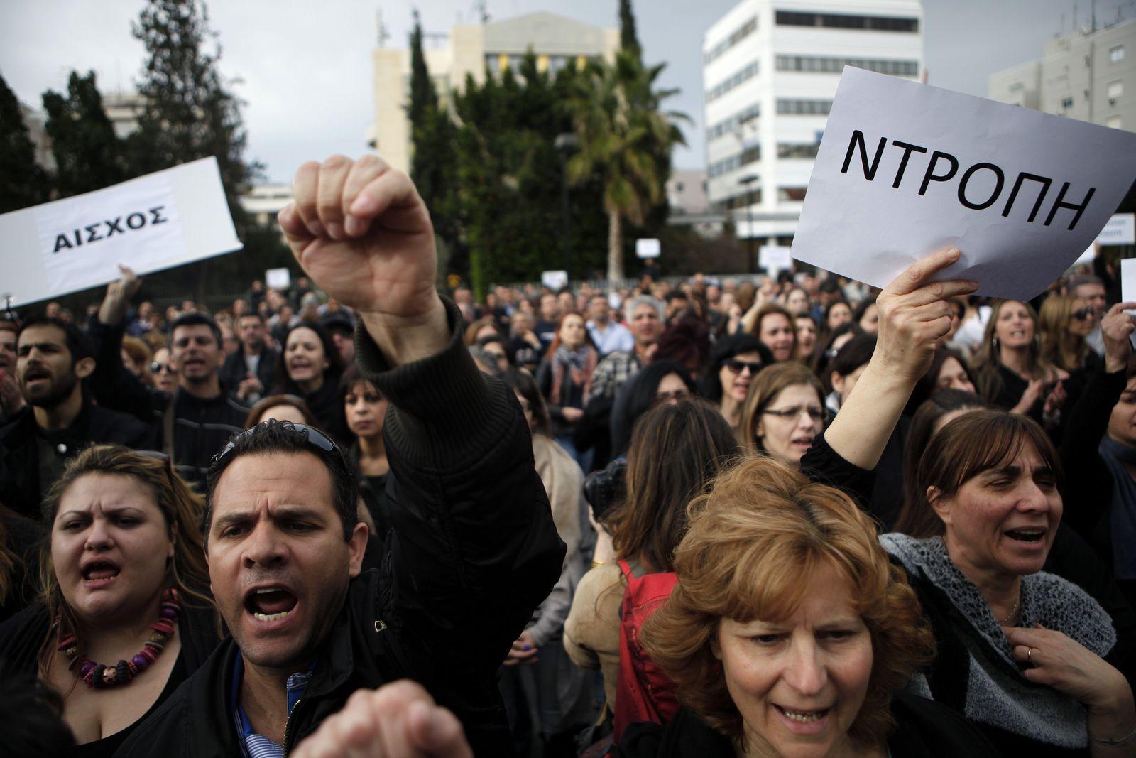 Zypern / Bank of Cyprus / Proteste
