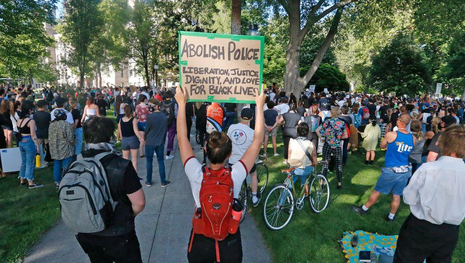 Friedlich Protestierende in Salt Lake City