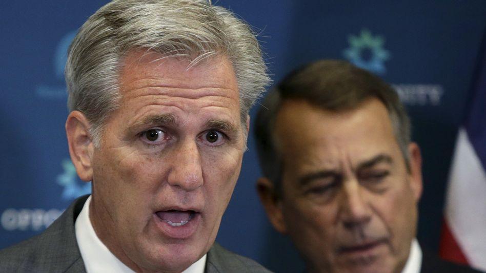 """McCarthy (l., mit Boehner): Die Partei brauche ein """"frisches Gesicht"""""""
