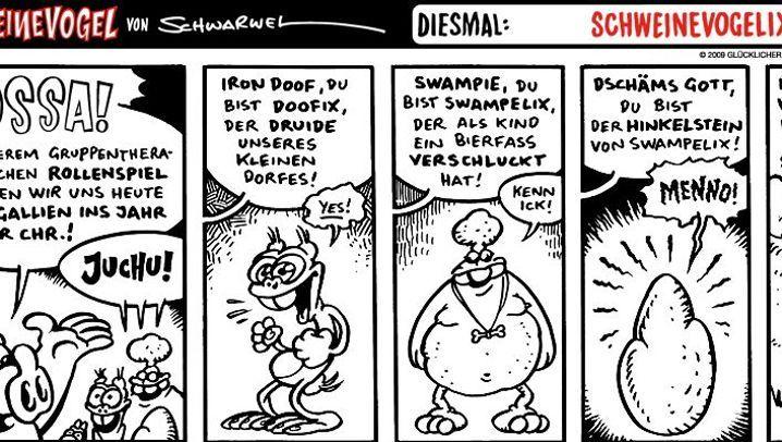 """Comiczeichner gratulieren Asterix: """"Herzlichen Glückwunsch, Alter!"""""""
