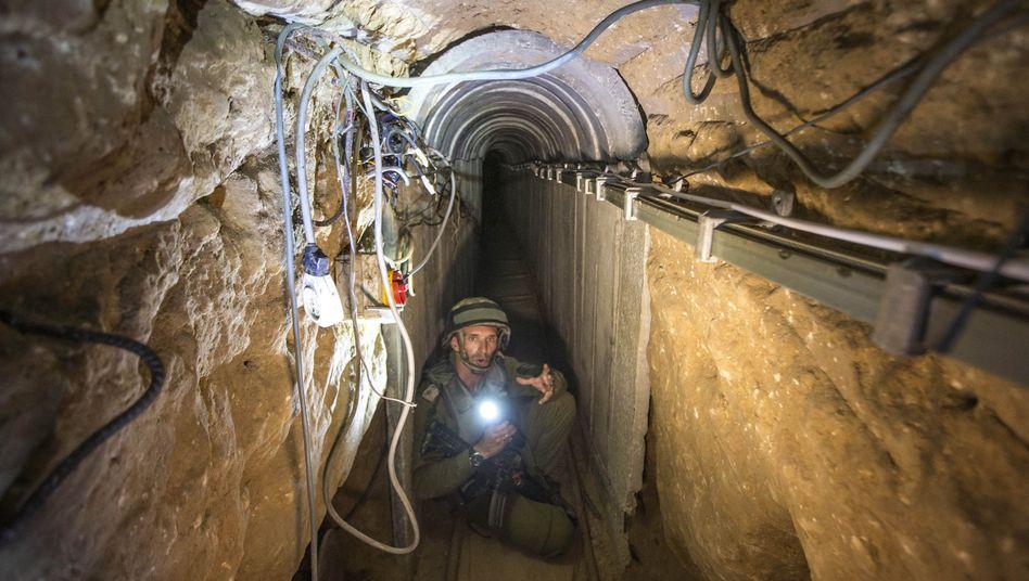 Tunnel der Hamas: Das unterirdische System soll nach Angaben von Israel zerstört worden sein