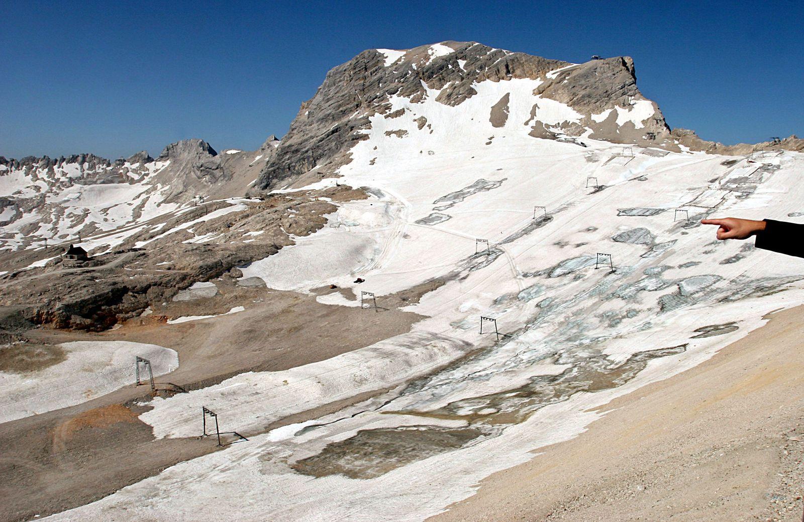Gletscher Schneeferner Zugspitze