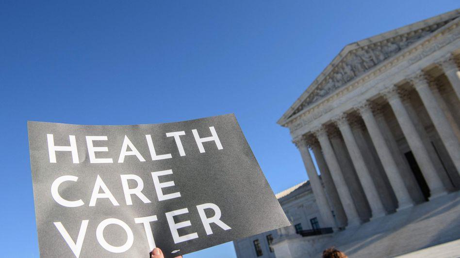 Protestaktion zum Erhalt des »Affordable Care Act« im vergangenen November