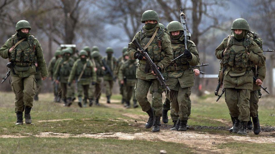 Russische Soldaten auf der Krim, 2014