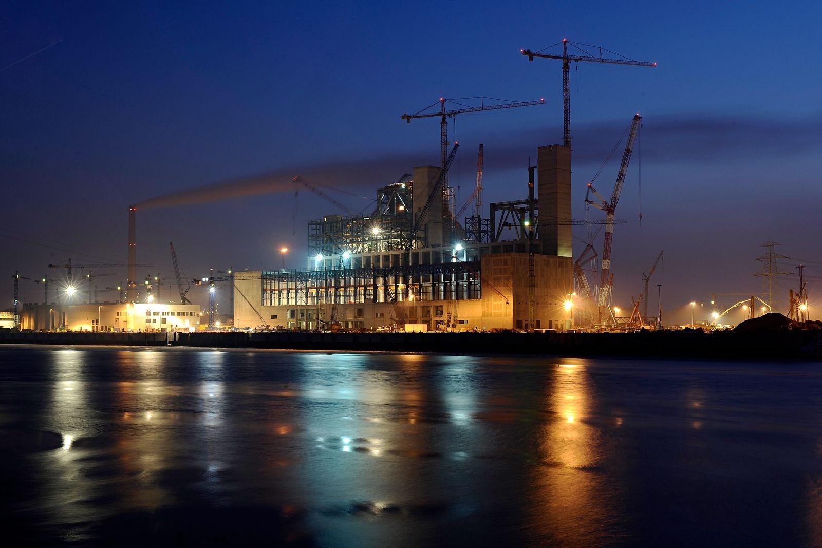 NICHT VERWENDEN Kraftwerksbaustelle Moorburg