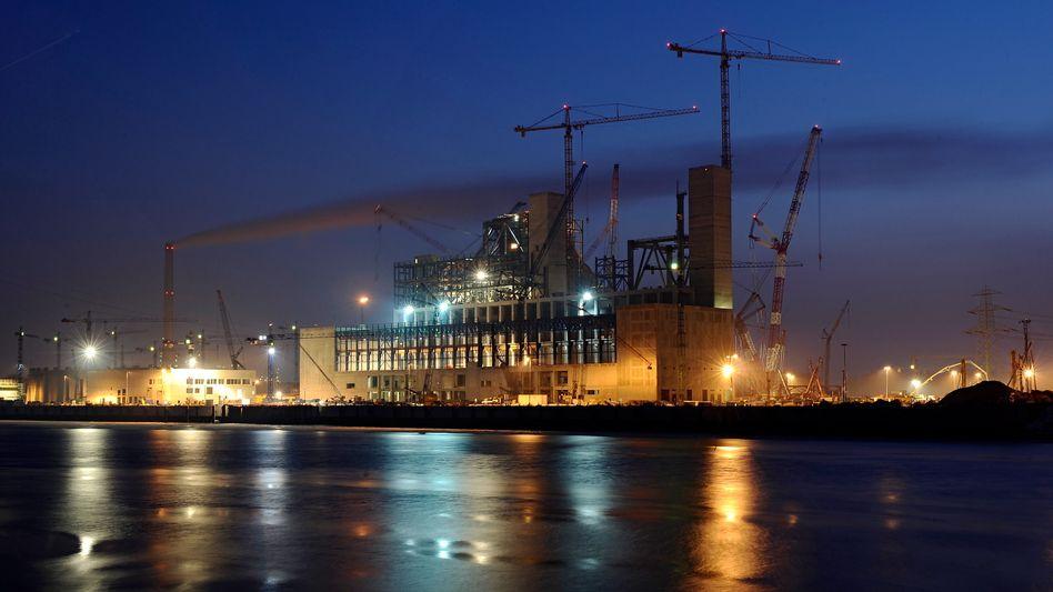Baustelle des Kohlekraftwerks Moorburg: Einigung zwischen Bundesregierung und Vattenfall