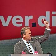 Ver.di-Cef Frank Bsirske: Gegen GNBZ im Kampf um Post-Mindestlohn