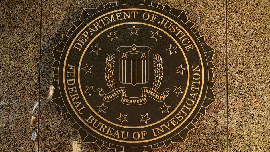 Logo am FBI-Hauptquartier