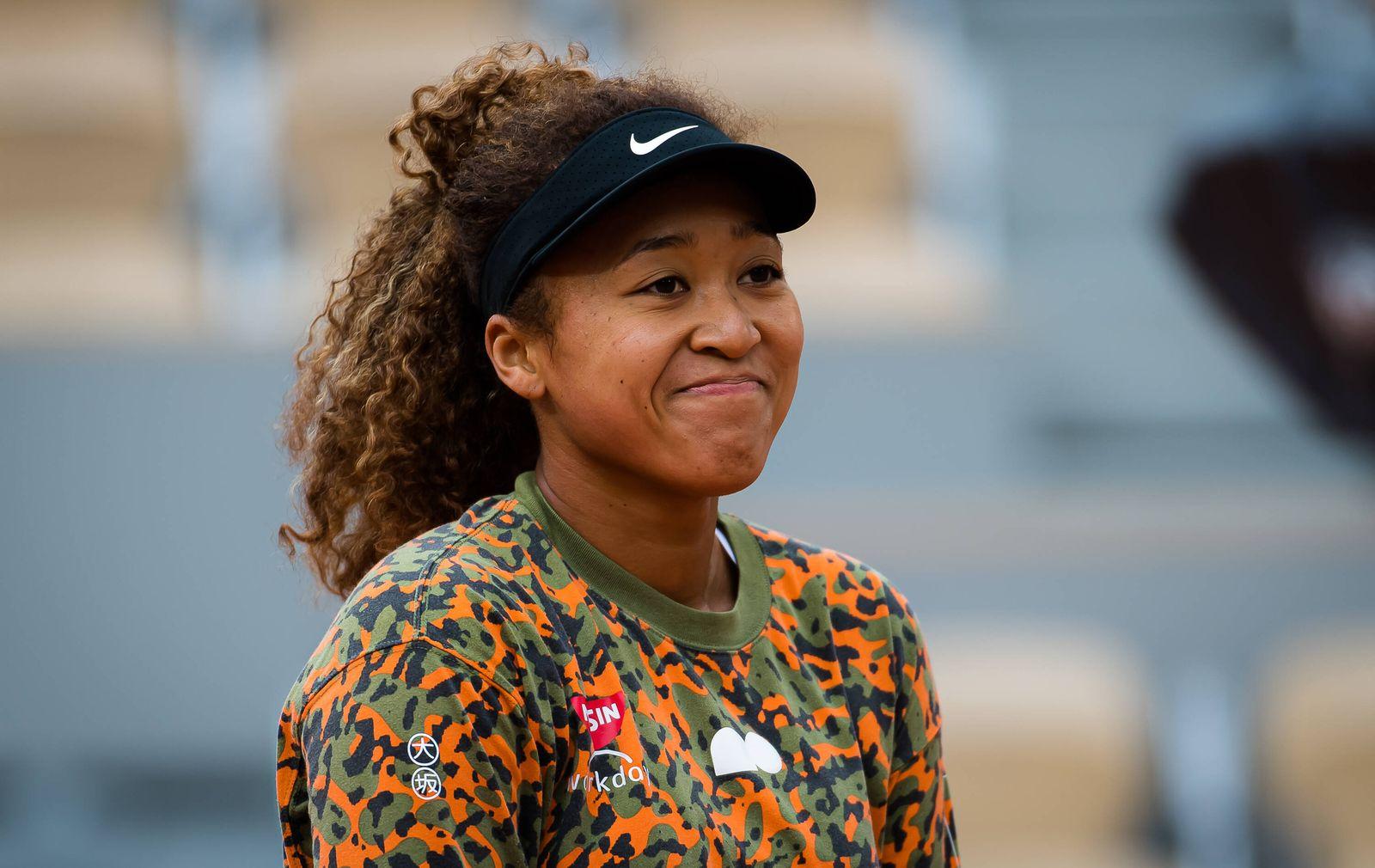 May 26, 2021: Naomi Osaka of Japan during practice ahead of the 2021 Roland Garros Grand Slam Tournament - ZUMAa181 2021