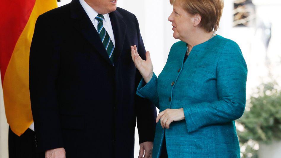 Donald Trump und Angela Merkel (am 17. März in Washington)