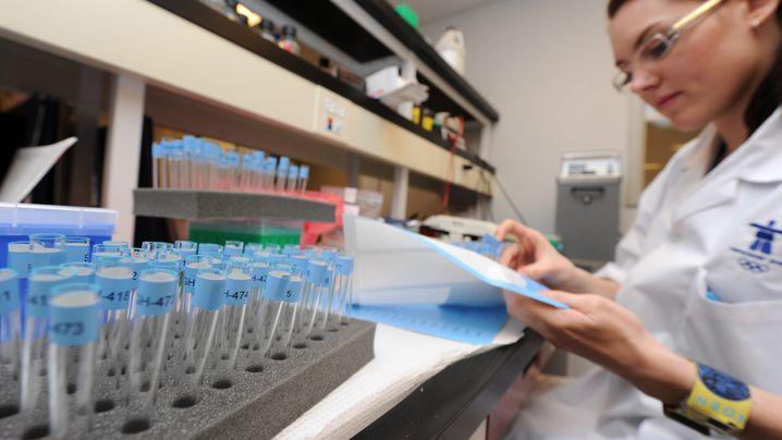 Kampf gegen Doping: Blutproben im Labor