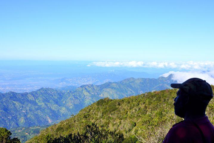 Auf dem Gipfel des Blue Mountain: Blaue Stunde