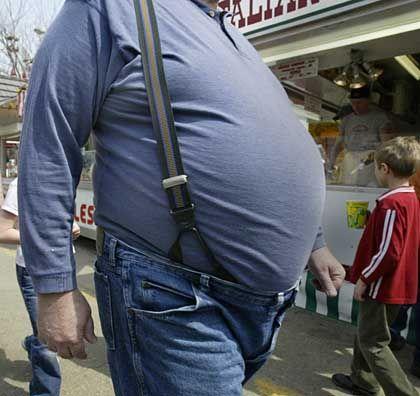 """Korpulenter US-Bürger: """"Gewichtsverlust ohne Geißel"""""""