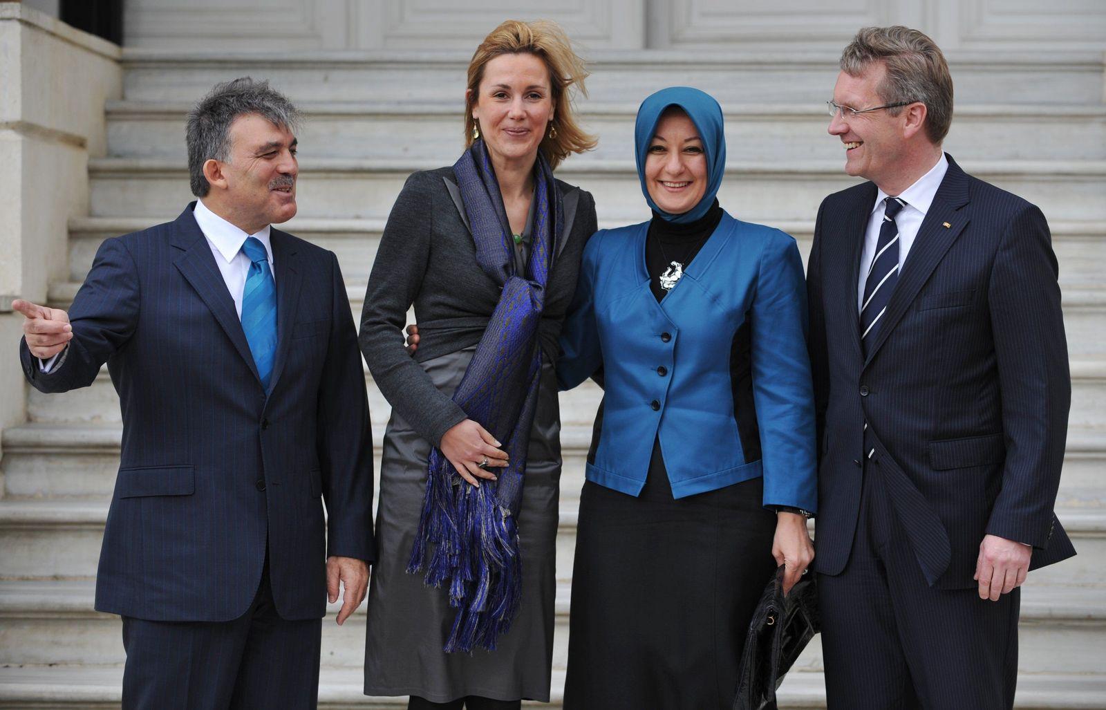 Bundespräsident Wulff Gül Türkei Kopftuch