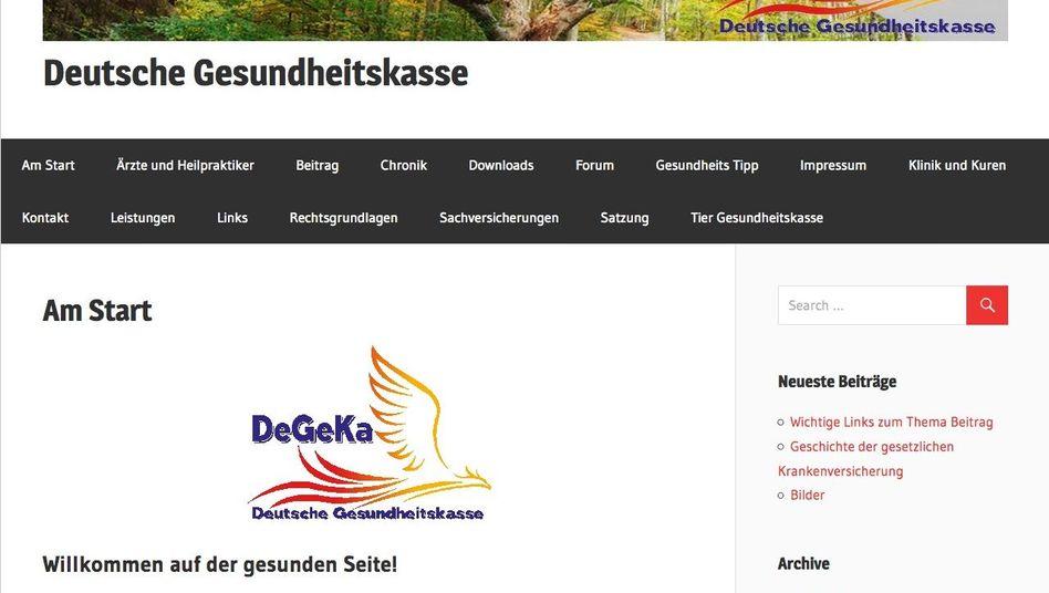 Internetseite der DeGeKa