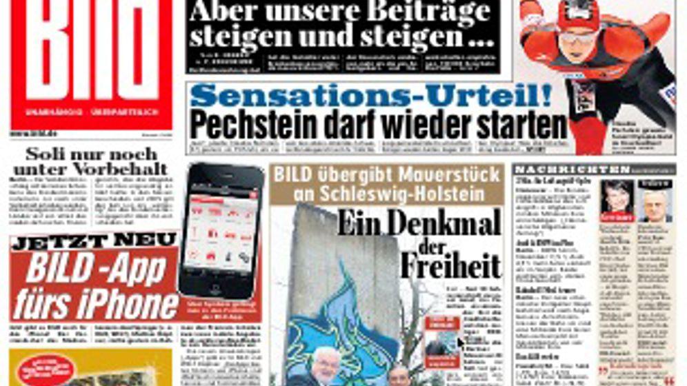 """""""Bild"""" und """"Welt"""" auf dem iPhone: Zum Lesen und zum Schütteln"""