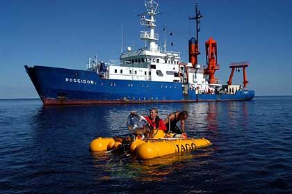 The research submersible Jago off the Baltic Sea coast.
