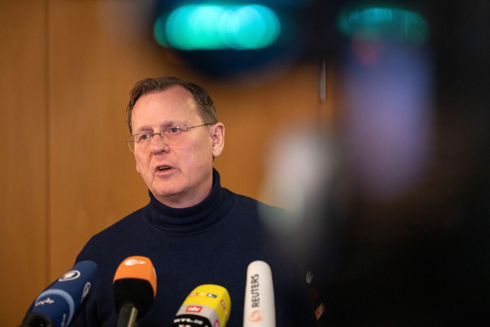 Treffen von Rot-Rot-Grün mit der CDU in Thüringen
