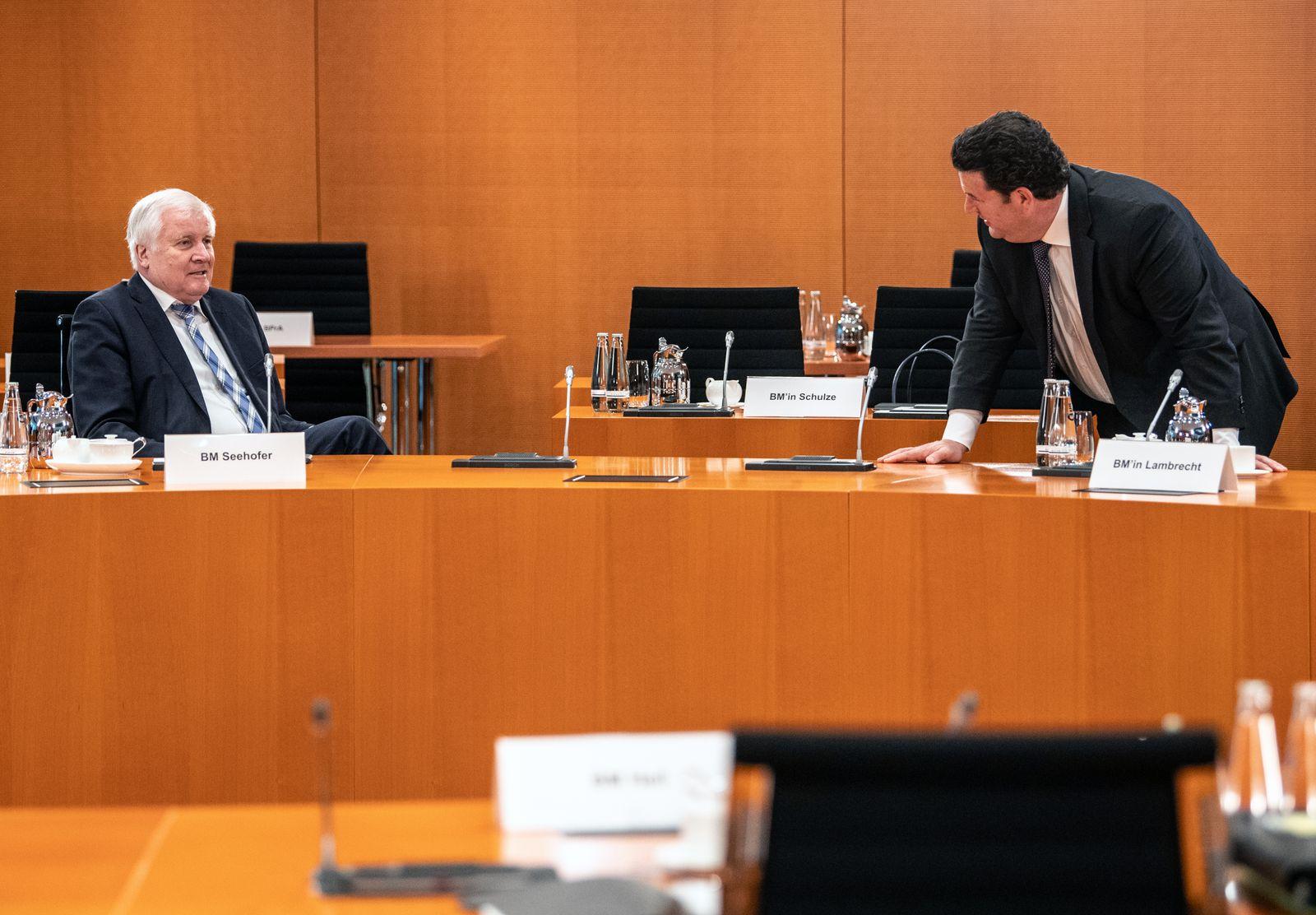 German Federal cabinet meeting in Berlin