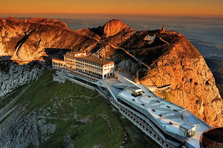 Hoch gebaut: Das Hotel Pilatus-Kulm