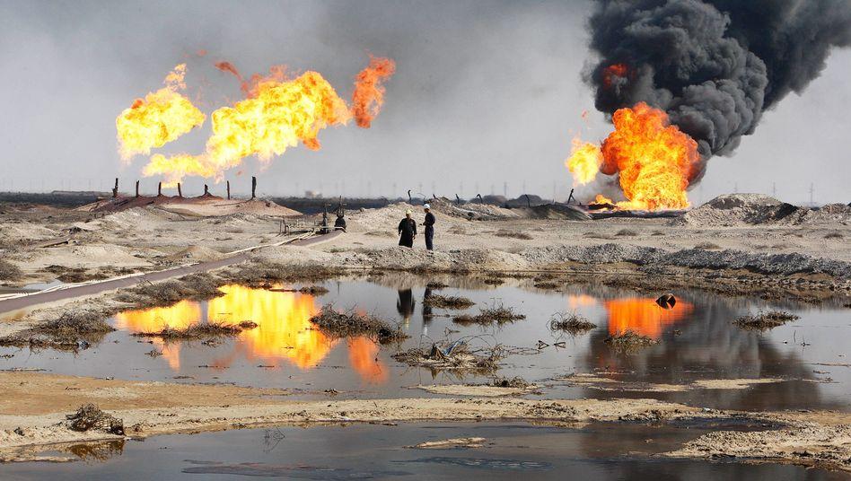 Ölfeld im Irak (Archivbild): Niedrige Preise, große Effekte