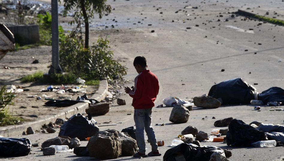 Kind im Flüchtlingslager auf der griechischen Insel Samos (Mitte Dezember): Menschenunwürdige Zustände