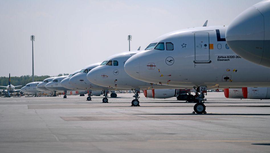 Lufthansa-Maschinen auf dem Flughafen München: Heftiger Streit über Staatshilfen