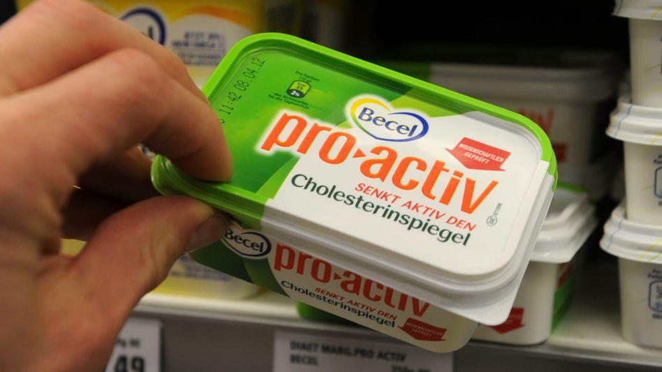"""""""Senkt aktiv den Cholesterinspiegel"""": Becel-Margarine pro.activ wirbt mit einem umstrittenen Gesundheitsnutzen"""