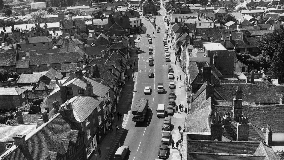 Englische Kleinstadt in den Siebzigern