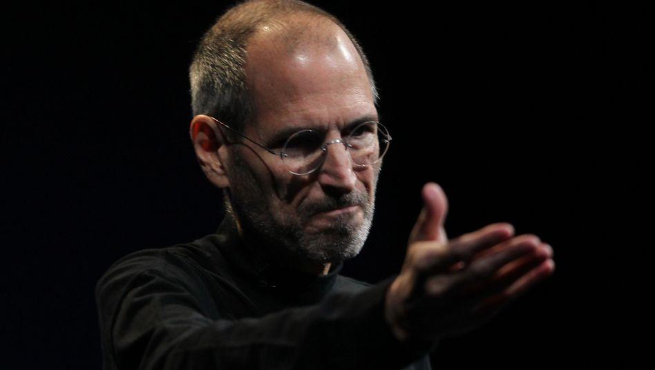 Apple-Gründer Jobs: Wenn der Verlag selbst Abonnenten wirbt, behält er 100 Prozent