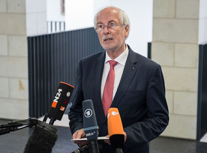 Range bei seinem Statement zur Netzpolitik-Affäre am 4. August 2015