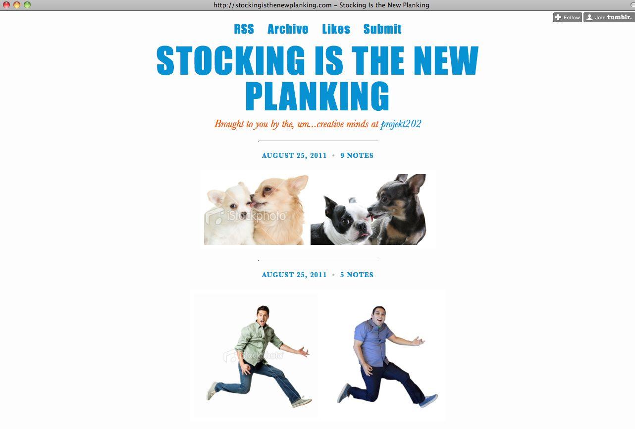 NUR ALS ZITAT Screenshot Stocking Is The New Planking