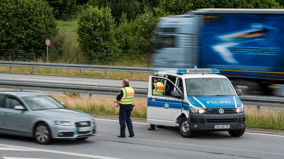 Grenzkontrolle an der deutsch-polnischen Grenze