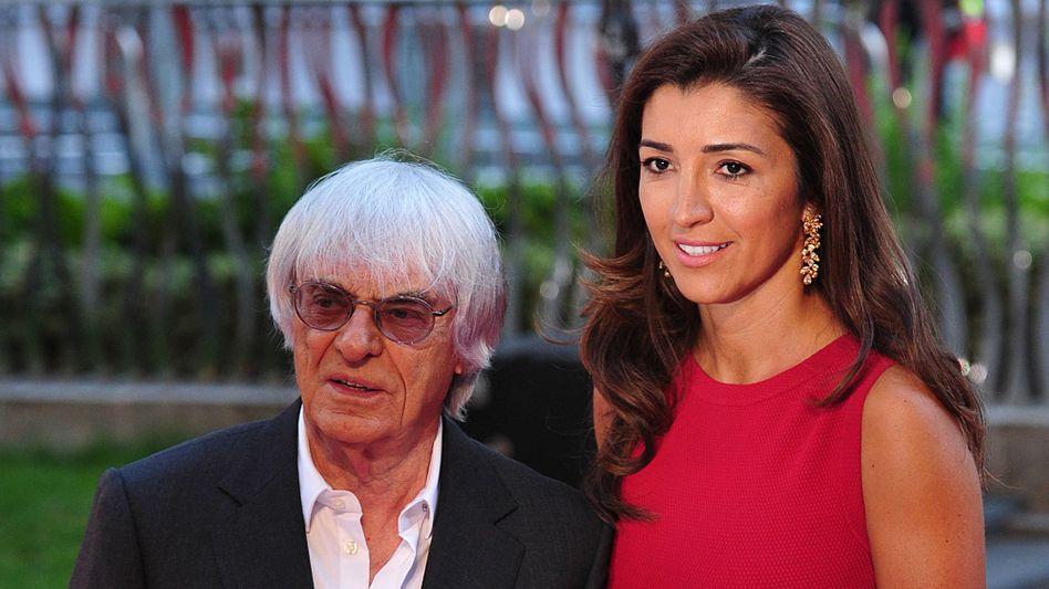 Bernie Ecclestone und seine Frau Fabiana Flosi (Archivbild): Ein halbes Dutzend Kinder wäre toll