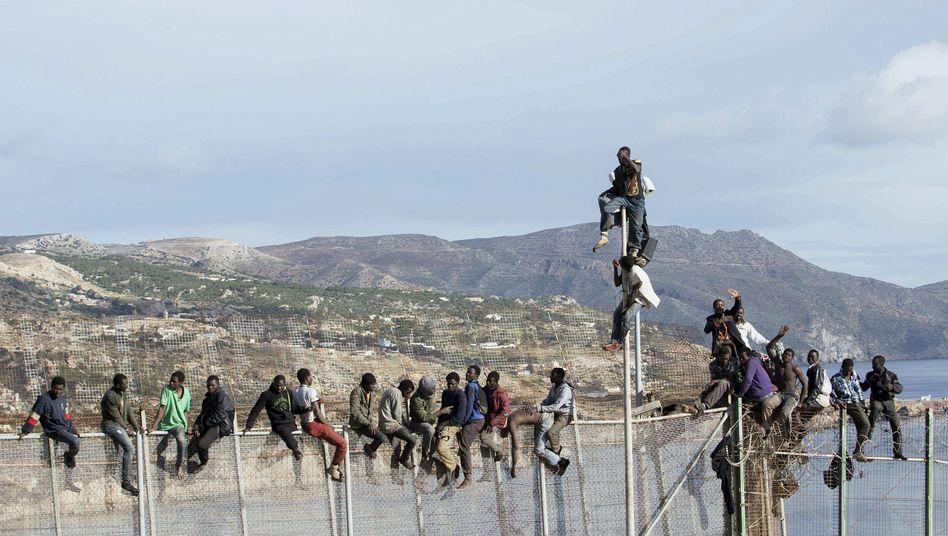 Grenzzaun in Melilla