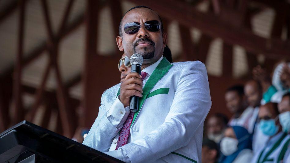 Abiy Ahmed, Premierminister von Äthiopien, wurde bei der Parlamentswahl im Amt bestätigt