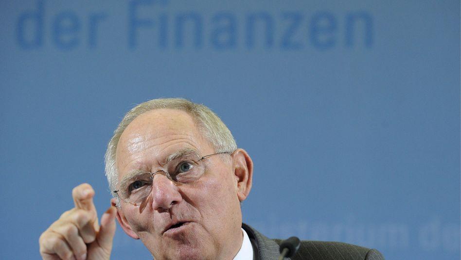 Finanzminister Schäuble: Geringer finanzieller Spielraum