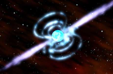 Pulsar (Computersimulation): Kosmisches Leuchtfeuer, von Aliens gebündelt?