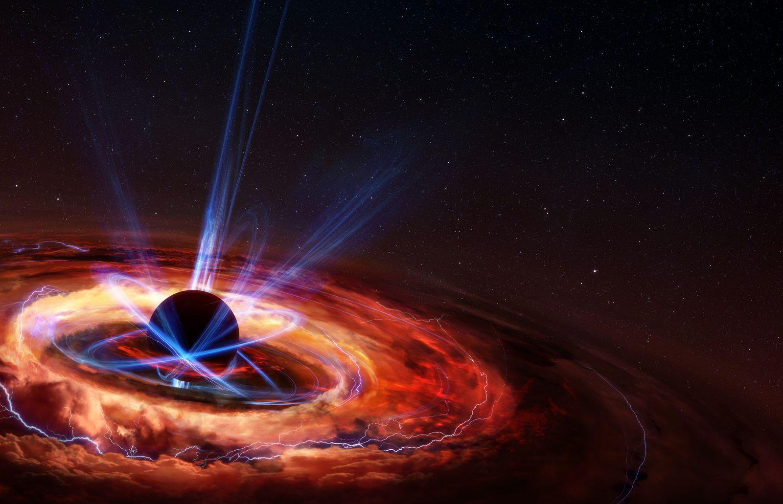 Collapsing Star & Black Hole Illustration