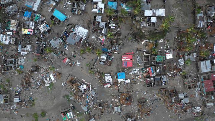 """Zerstörungen durch Zyklon """"Idai"""" in Beira, Mosambik"""