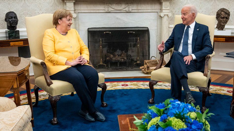 Angela Merkel bei Joe Biden im Weißen Haus