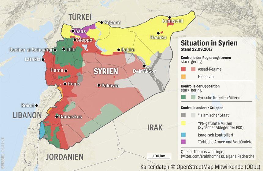 Grafik Karte Syrien - 22-09-2017
