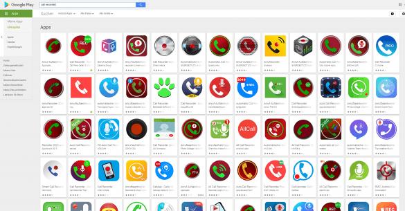 Die kaum noch zu überblickende Vielfalt von Mitschneide-Apps für Android im Google Play Store lässt darauf schließen, dass diese Art von Anwendungen unter Smartphone-Nutzern beliebt ist